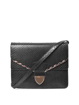 Spear tab cross-body bag