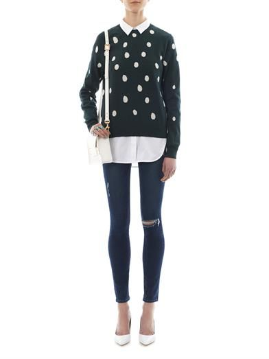 Sophie Hulme Frog spot-intarsia cotton sweater