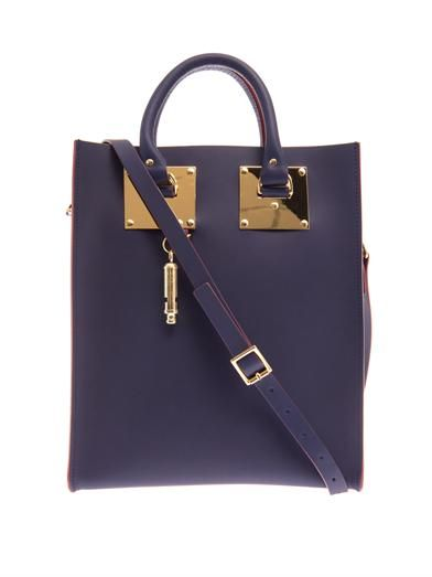 Sophie Hulme Structured buckled leather mini tote