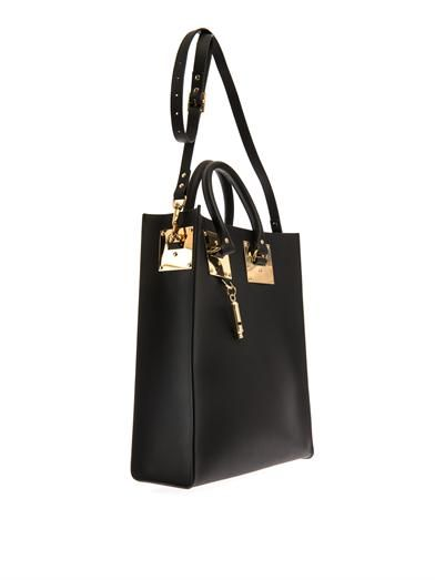 Sophie Hulme Structured buckle leather tote