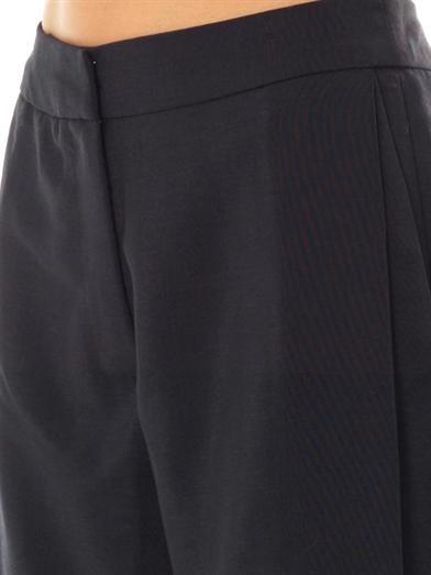 Sophie Hulme Wide-leg pleat-side trousers