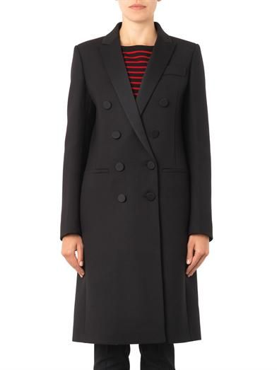Gucci Satin-lapel double-breasted coat