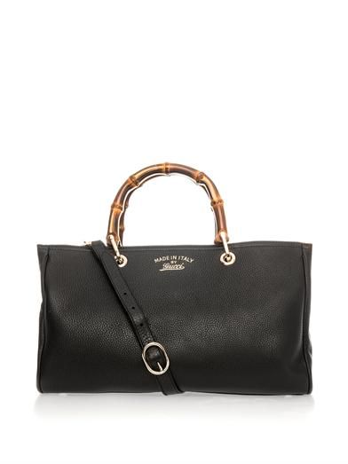 Gucci Bamboo and leather tote