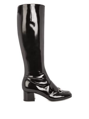 Lillian horsebit leather boots