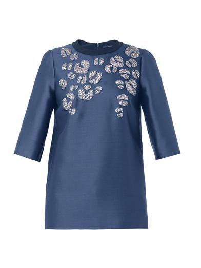 Gucci Embellished mikado blouse