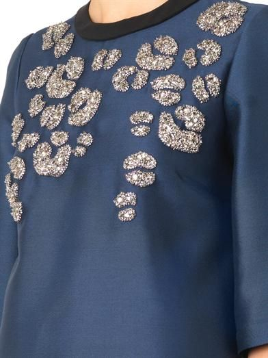 Gucci Embellished mikado blouse