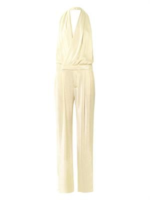 Liquid lamé jumpsuit