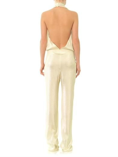 Gucci Liquid lamé jumpsuit