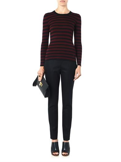 Gucci Striped ribbed-knit sweater