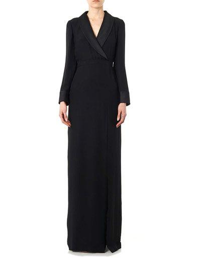 Gucci V-neck silk gown