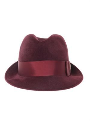 Felted velour fedora