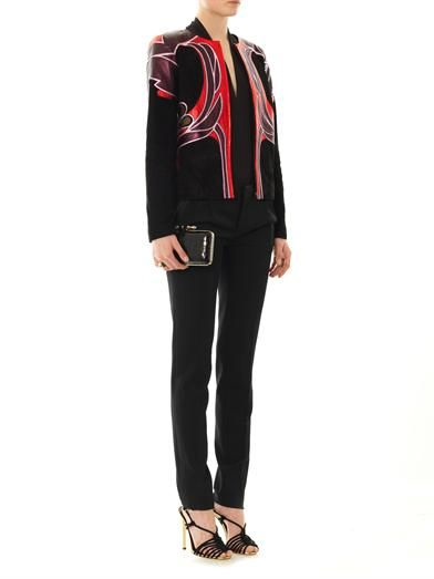Gucci Art nouveau flower leather jacket