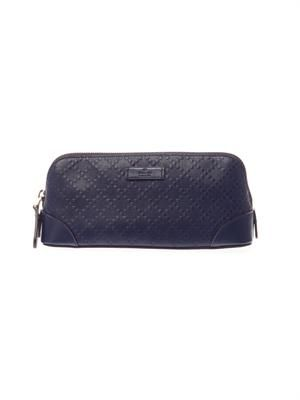 Hilary diamante leather make-up bag
