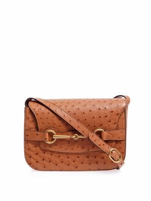 Ostrich cross-body satchel