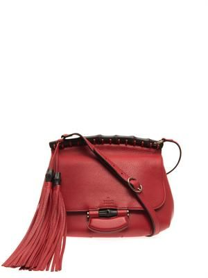 Nouveau double tassel cross-body bag