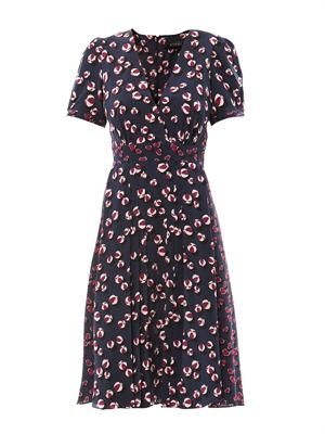 Bow and heart print tea dress
