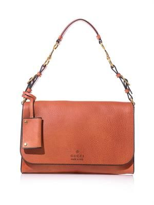 Harness leather shoulder bag