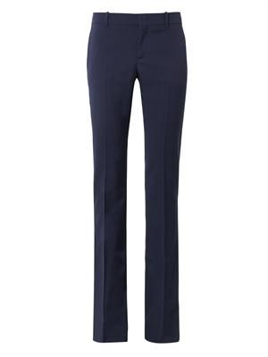 Flared-leg tailored trousers