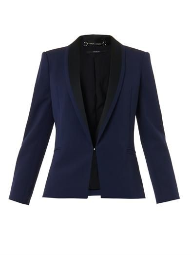 Gucci Bi-colour fine-drill tailored jacket