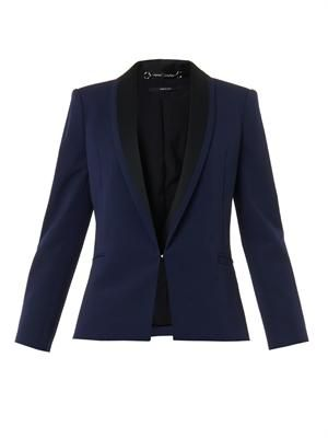 Bi-colour fine-drill tailored jacket