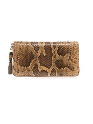 Python bamboo-tassel wallet
