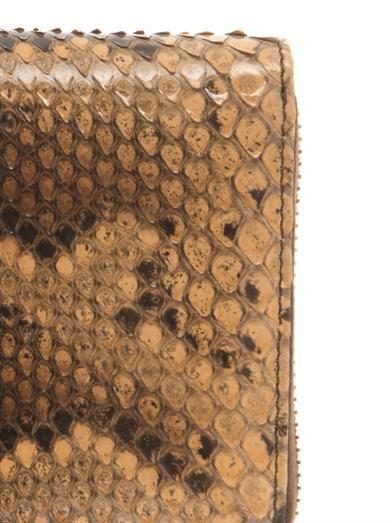 Gucci Python bamboo-tassel wallet