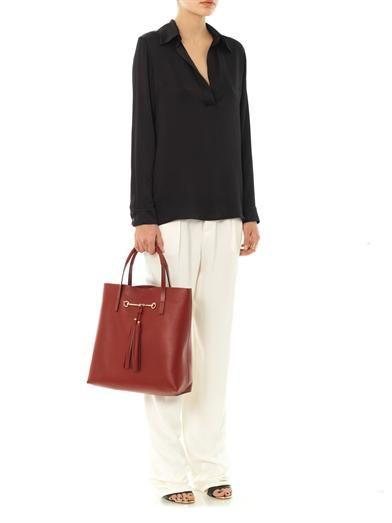 Gucci Silk-twill wide-leg trousers