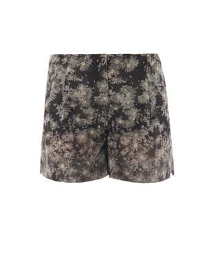 Marit daisy-print cotton-blend shorts
