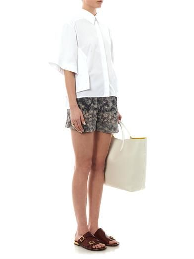 Stella McCartney Marit daisy-print cotton-blend shorts