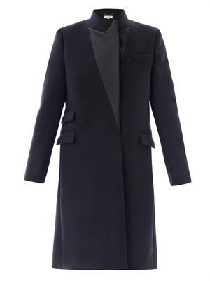 Alexandra Duchess satin-lapel coat