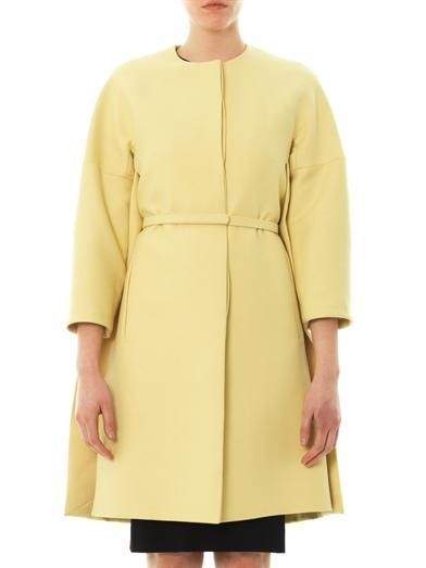 Stella McCartney Collarless button-through coat