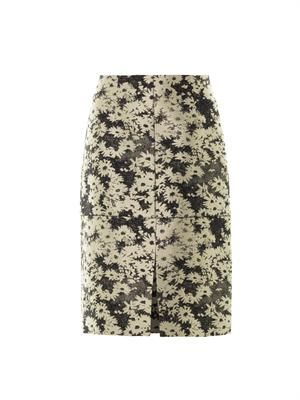 Nina daisy-jacquard pencil skirt