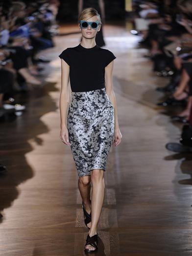 Stella McCartney Nina daisy-jacquard pencil skirt