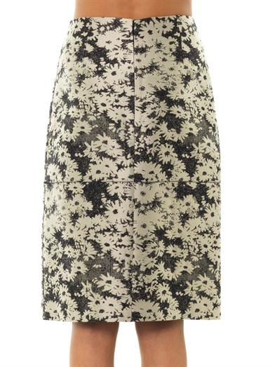 Stella McCartney Nina daisy-jacquard pencil skirt