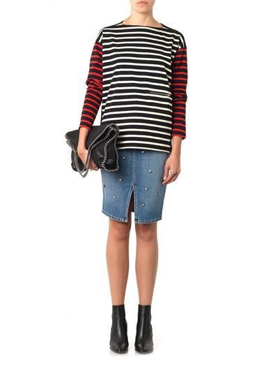 Stella McCartney Embellished denim skirt