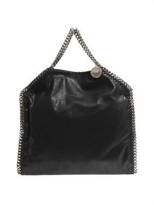 Falabella small black three-chain bag