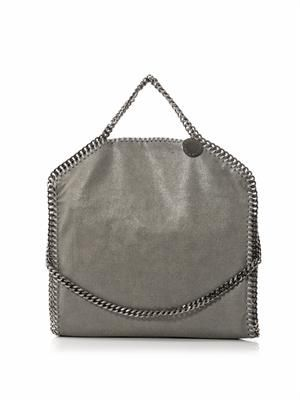 Falabella small grey three-chain bag
