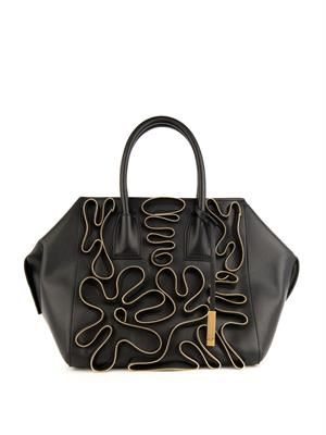 Cavendish zip-detail faux-leather tote
