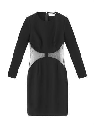 Becky sheer panel dress