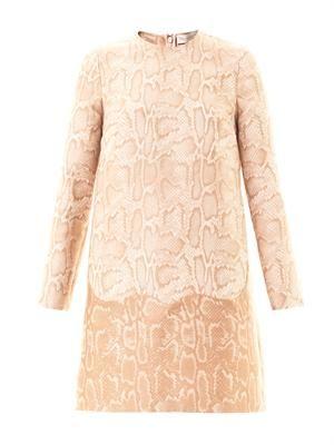 Alina snake-jacquard dress