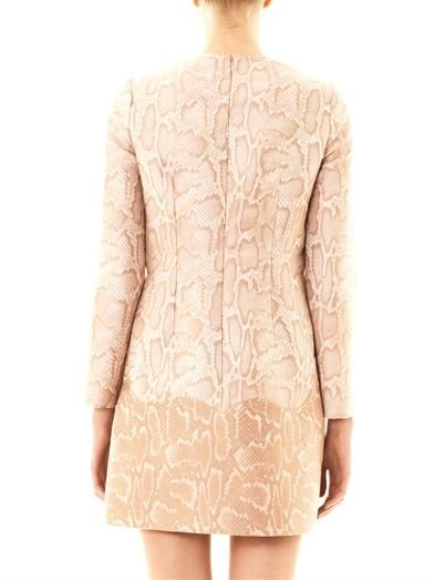 Stella McCartney Alina snake-jacquard dress