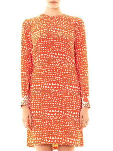Stella McCartney Gabel heart-print silk dress