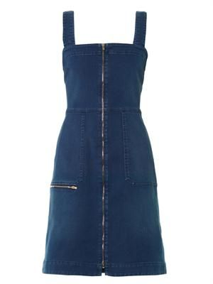 Utility denim dress