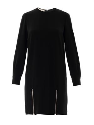 Alexia double-zip cady dress