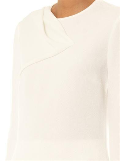 Stella McCartney Kristina snake-effect jacquard blouse