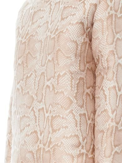 Stella McCartney Gius snakeskin-effect jacquard top