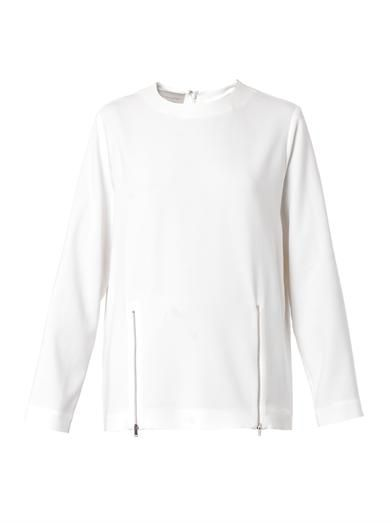 Stella McCartney Gordan double-zip cady top