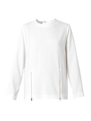Gordan double-zip cady top