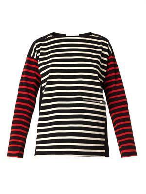 Multi-stripe cotton top
