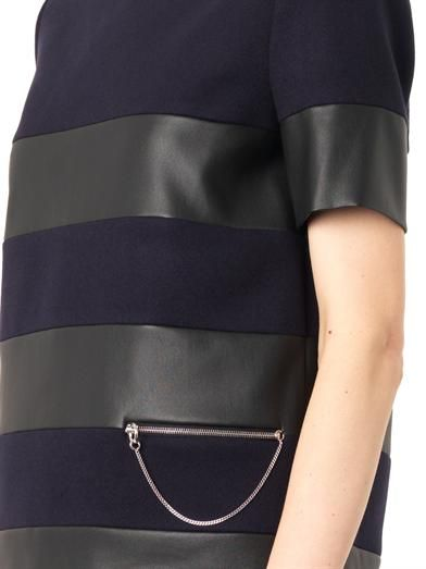Stella McCartney Howard faux-leather and wool top